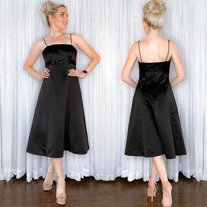 Black Midi Bridesmaid Dress David's Bridal
